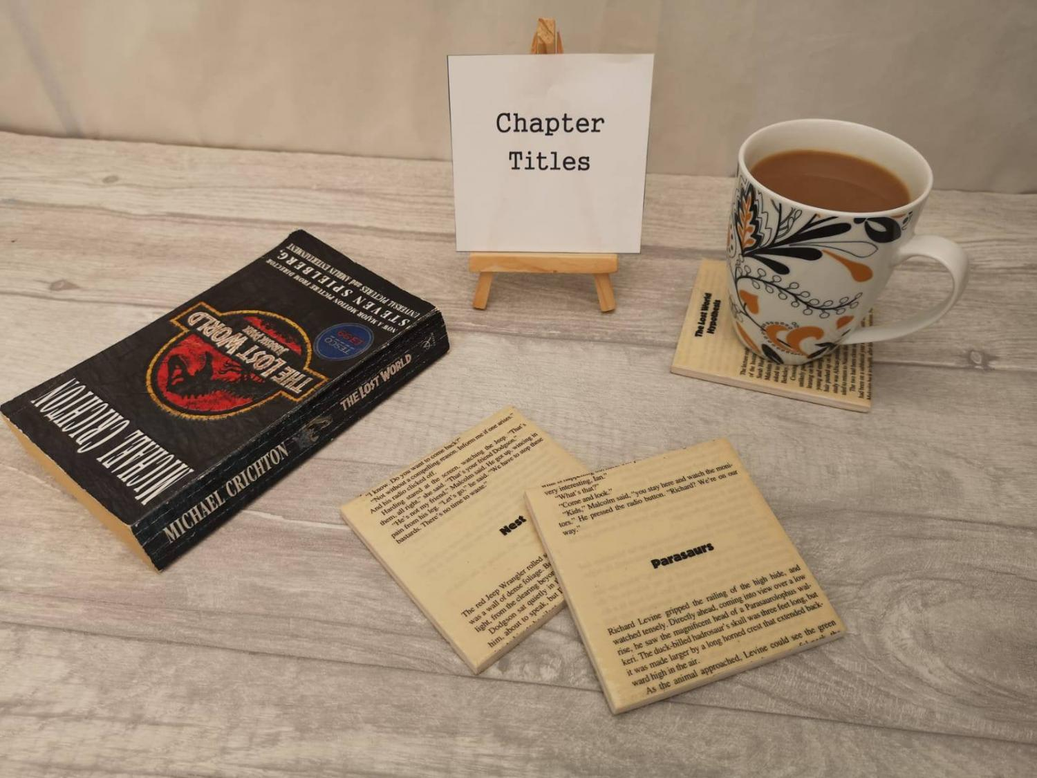 Jurassic Park Novel Coasters Let You Read a Page Every Time You Put Your Cup Down