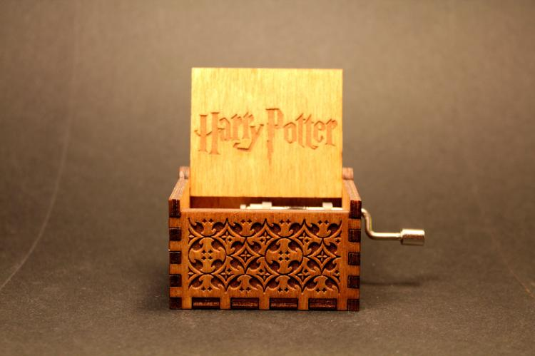 Harry Potter Theme Wooden Music Box - Harry Potter Music Box