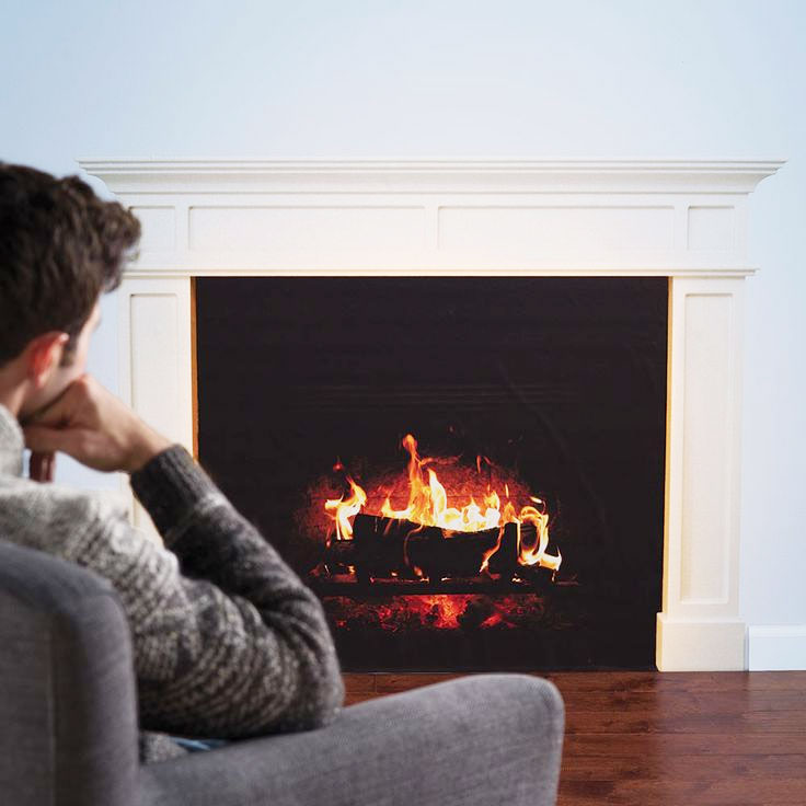 High Quality HD Faux Fireplace Wall Decal Part 16