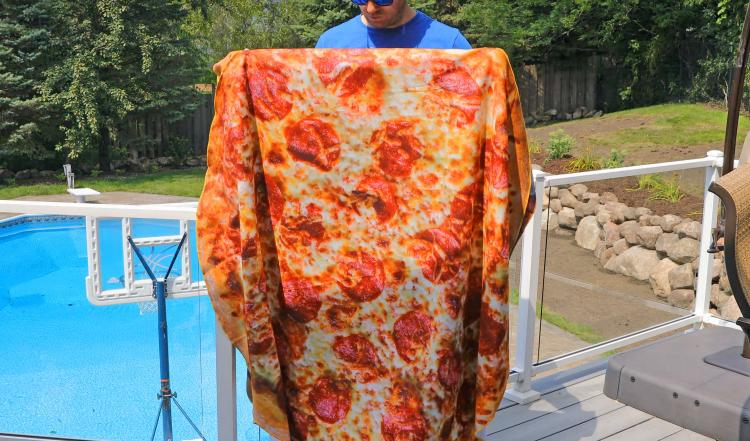 HD Print Food Blankets - Giant Pizza, Cheeseburger, and Donut Blankets