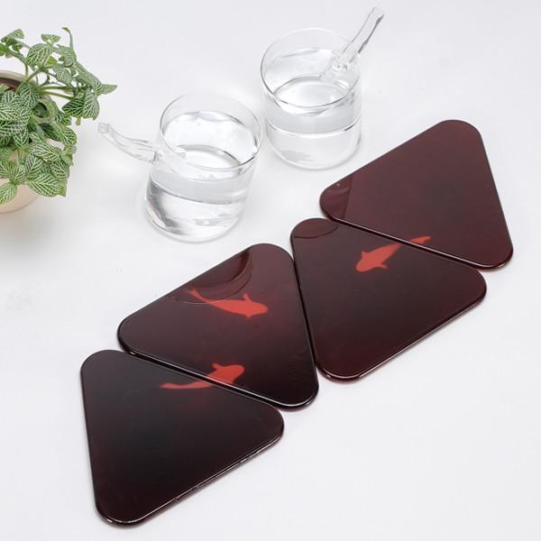 Koi Fish Coasters - Heat Activated Fish Coasters - Coasters reveal a fish after heat from your mug
