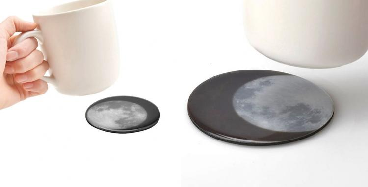 Heat-Activated Moon Coasters - Drink The Moon Coasters
