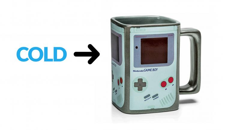 Heat Changing Game Boy Coffee Mug - Color Changing Game Boy Mug Turns On When Hot Liquid Is Added