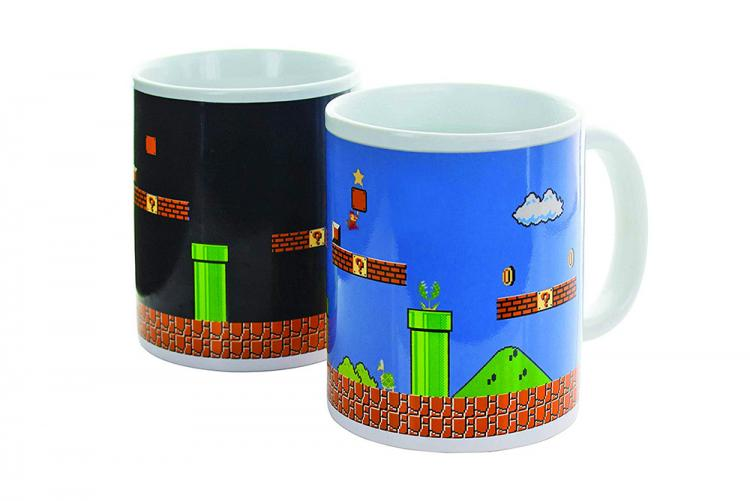 Heat Changing Mario Mug Turns From Night Level To Day Level - Changing Super Mario Coffee Mug