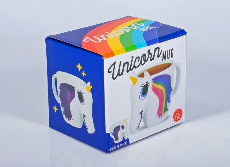 Rainbow Unicorn Color Changing Mug - Heat Changing Rainbow Unicorn Coffee Mug