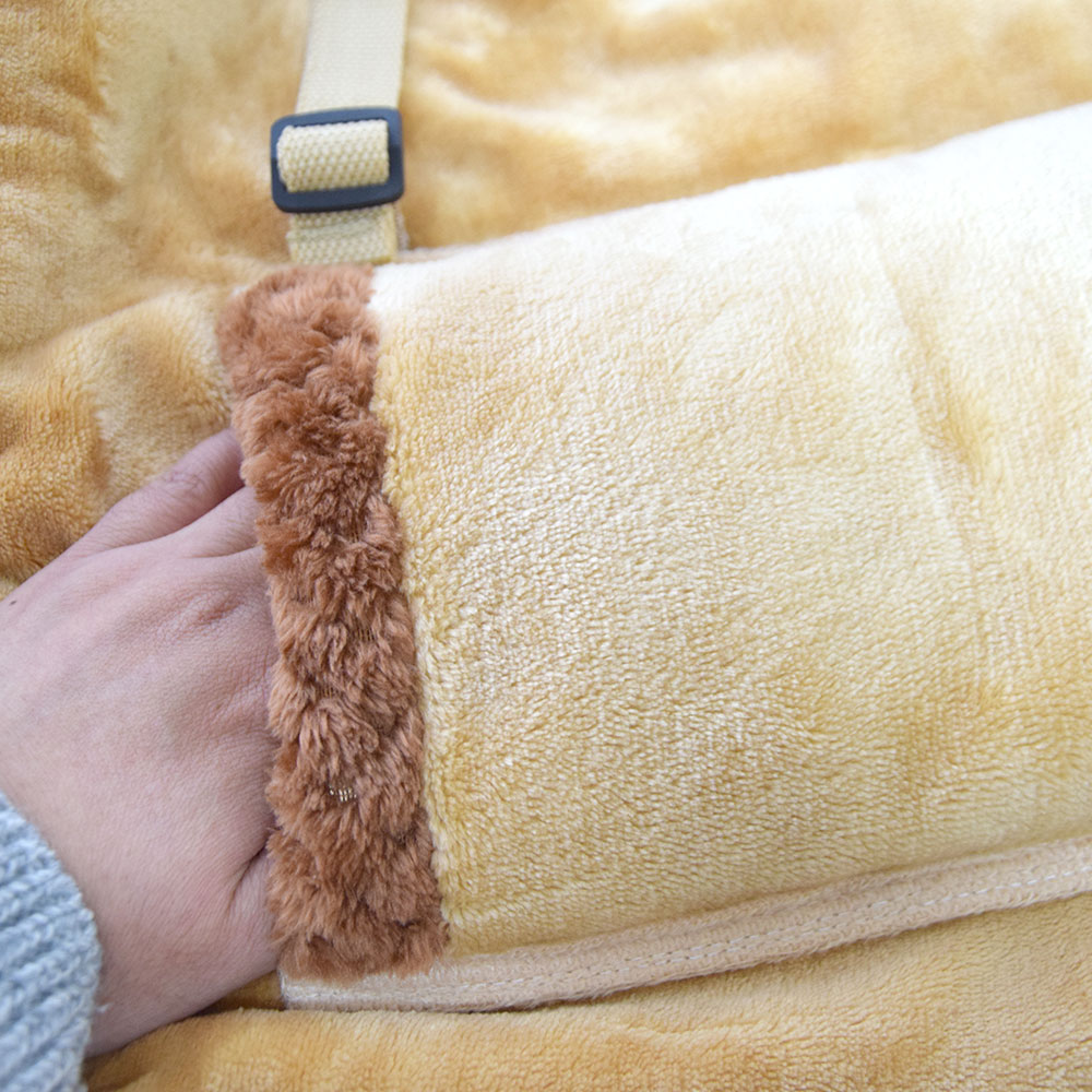 USB Heated Blanket Connects To Your Desk - Heated office blanket with hand warmers