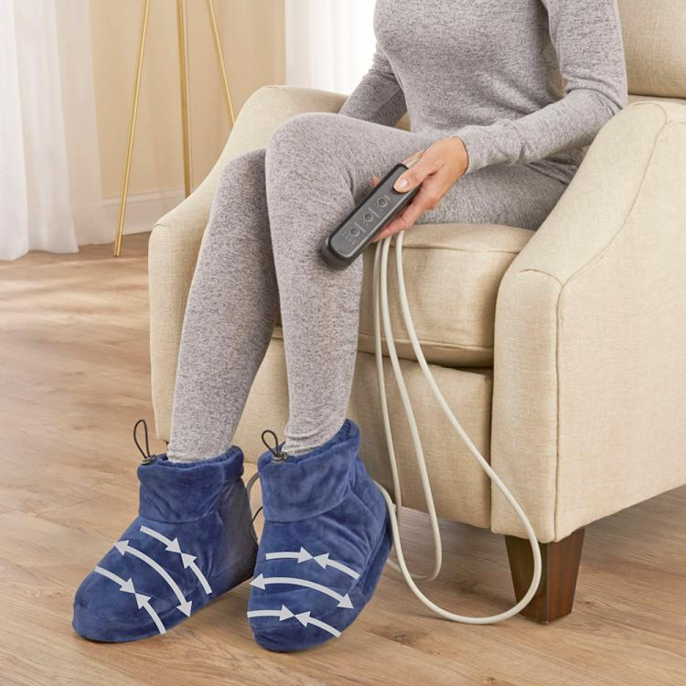 Heated Slippers That Massage Your Feet - Heat compression slipper booties