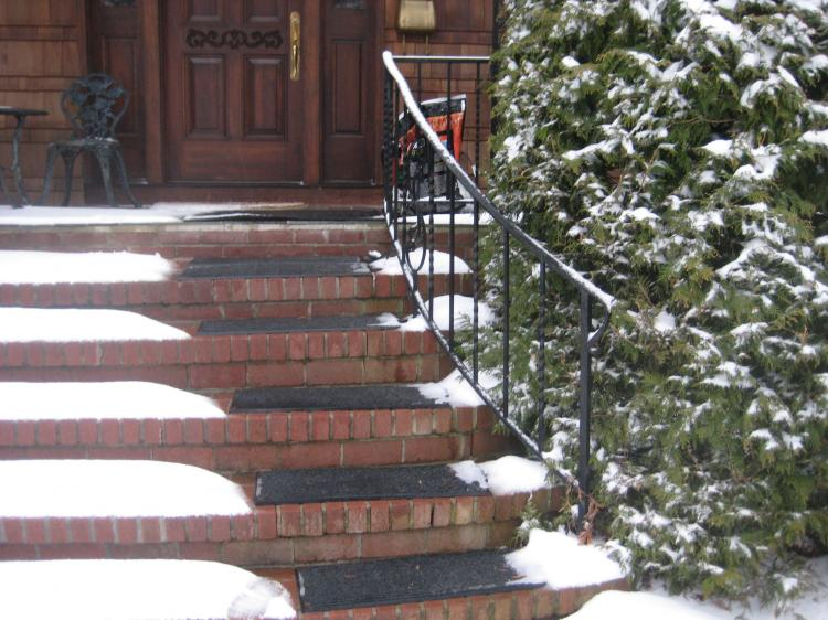 These Heated Stair Mats Melt Snow And Ice From Your