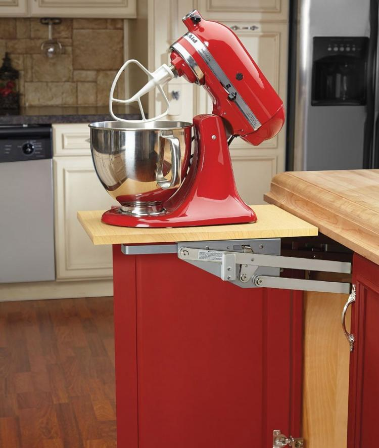 Rev-a-Shelf Heavy-Duty Mixer Lift - Easily access and store your heavy appliances under you cabinet with soft close feature
