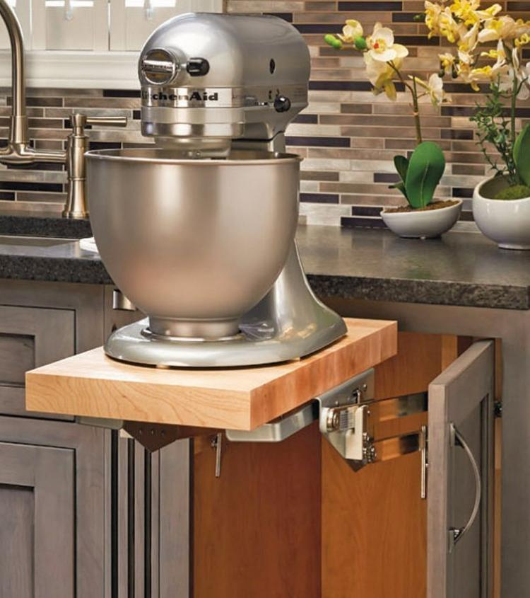 Under Counter Microwave For Easier Works: This Heavy-Duty Mixer Lift Lets You Easily Access And