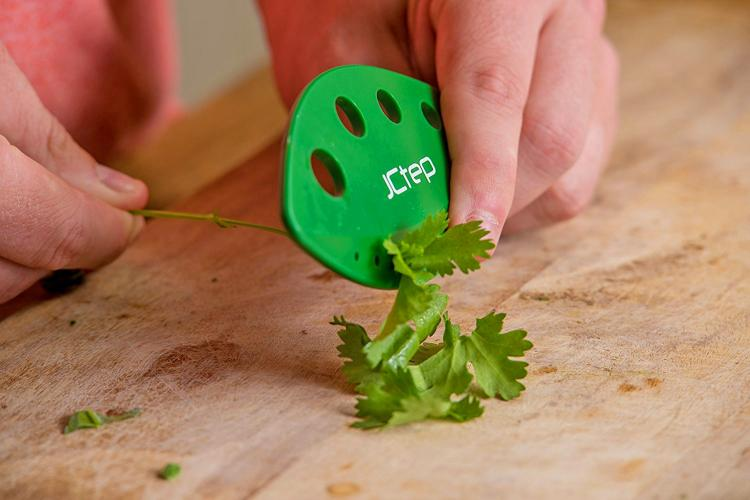 Herb Stripper - Pull herb stems through various sized holes to strip leaves from stem