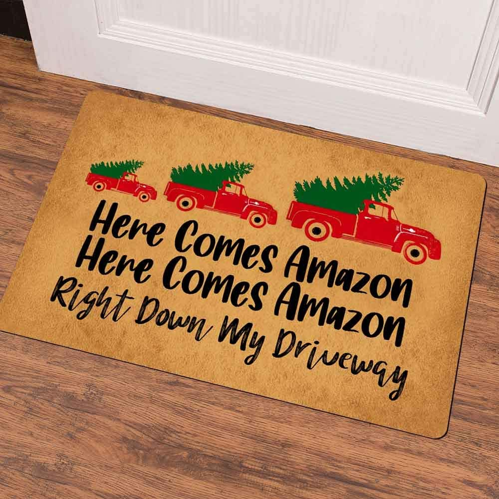 Here Comes Amazon, Right Down My Driveway Doormat