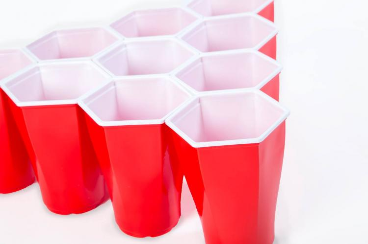 Hexcups - Hexagon Shaped Beer Pong Cups