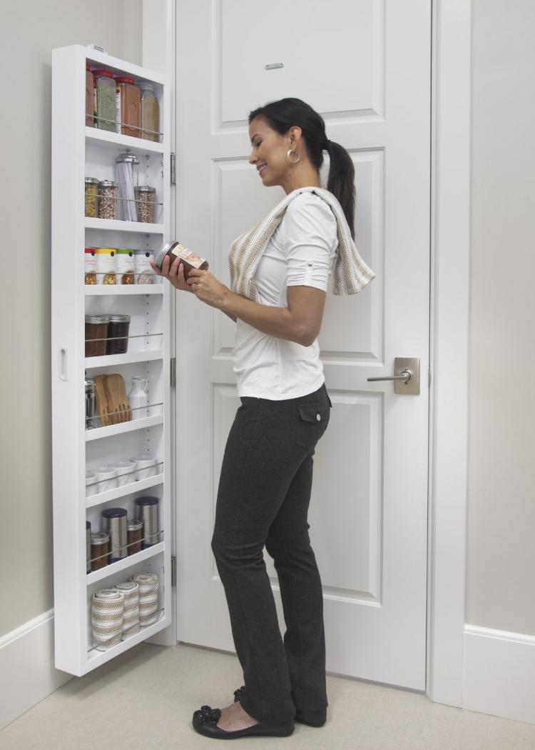 Cabidor Behind The Door Hidden Cabinet Shelving System - Cabinet system that attaches behind any door