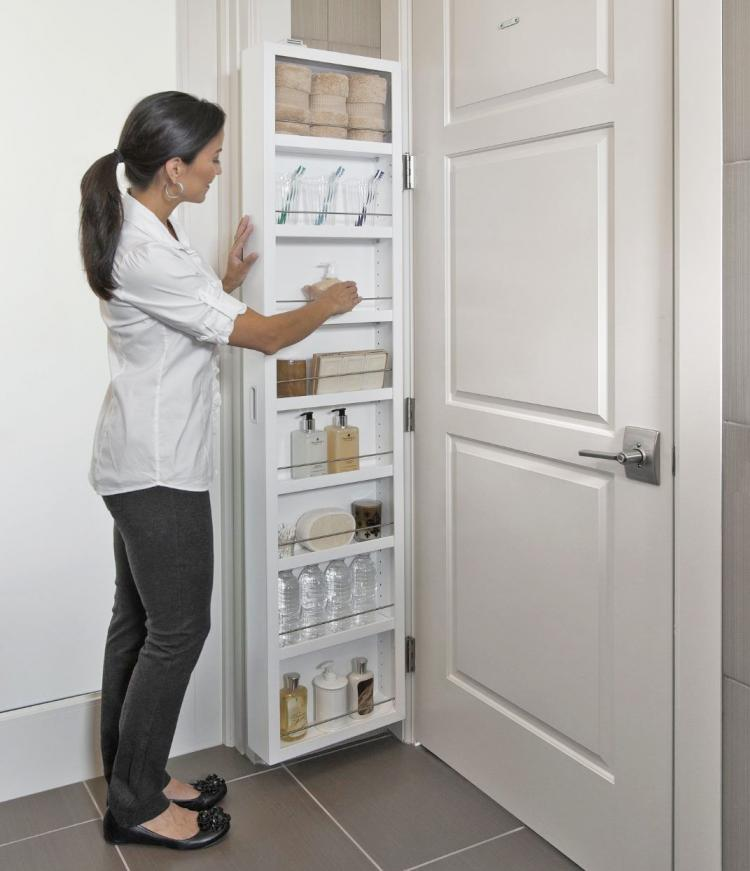 Cabidor Behind The Door Hidden Cabinet Shelving System That Attaches Any