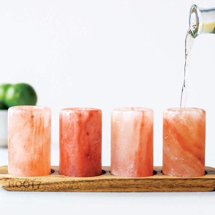 Himalayan Salt Shot Glasses - Tequila shot glasses made from salt