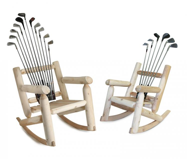 Hockey Stick Broom - Golf Club Rocking Chair