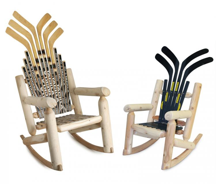 Hockey Stick Broom - Hockey Stick Rocking Chair