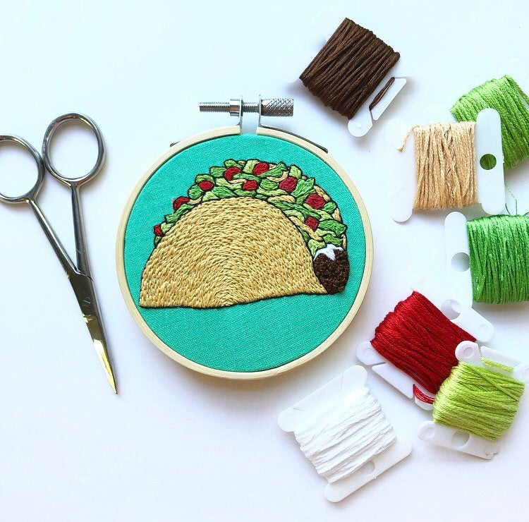 Taco embroidery
