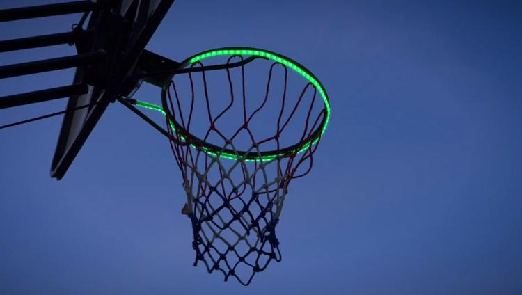 Hoop Light - Motion Activated LED light basketball rim attachment