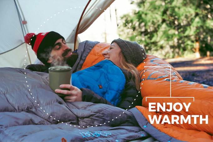 Sierra Madre Hot Pocket Heated Camping Blanket - Electric sack heats your sleeping bag