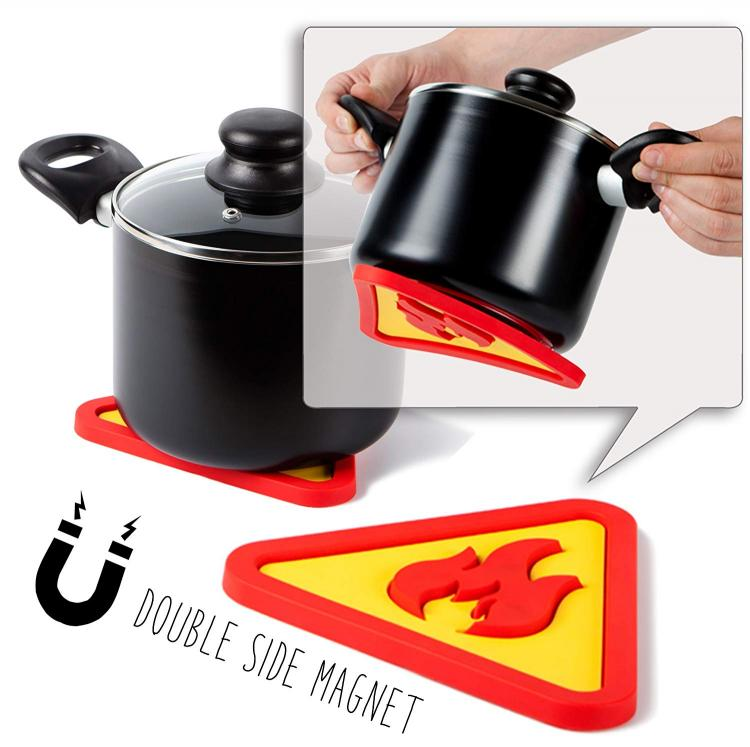 Magnetic Trivet Sticks To Bottom of Pot or pan While Carrying - magnetic hot pad