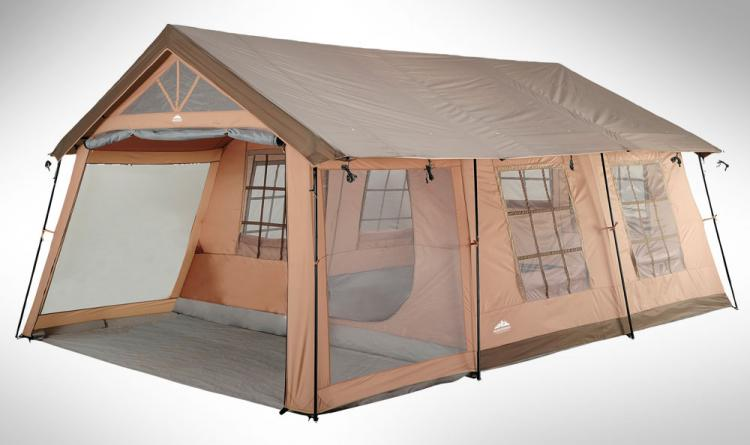 Giant 10 Person Tent - House Shaped Tent - Northwest Territory Ten Person Cabin Tent