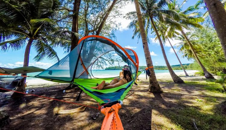 tentsile tree tent   hammock tent tentsile tree tent  a hovering hammock tent that connects to three      rh   odditymall