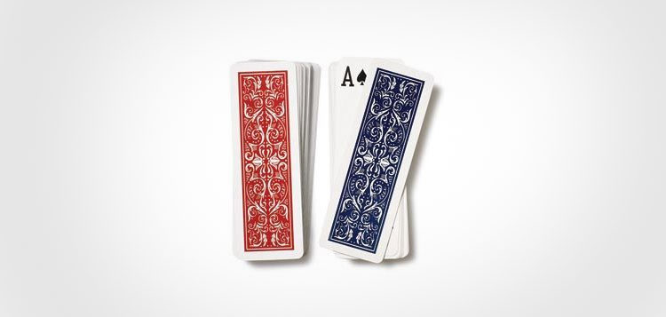 Hoyle Slice Half Deck Skinny Playing Cards