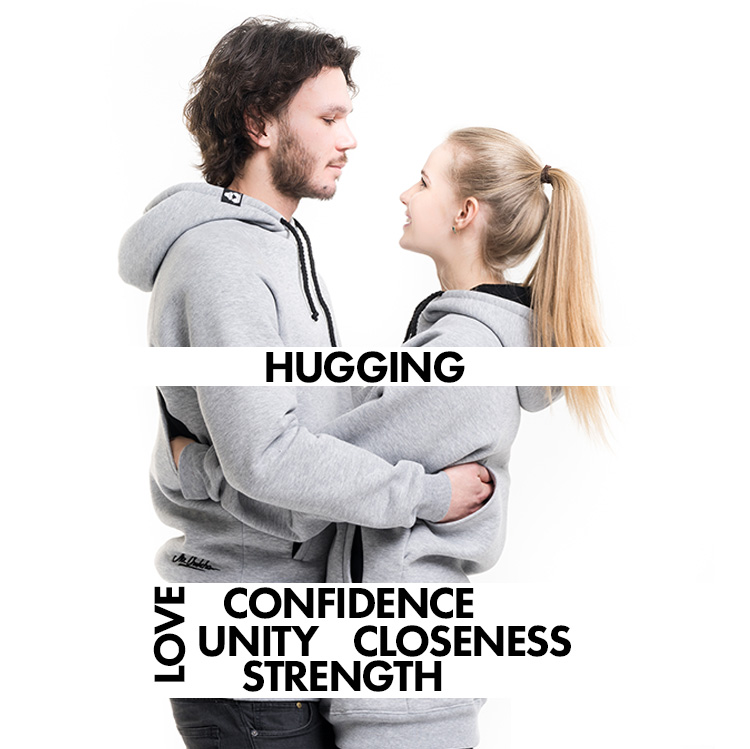 Together Wear - Hugging Hoodies With Rear Pockets For Hugging