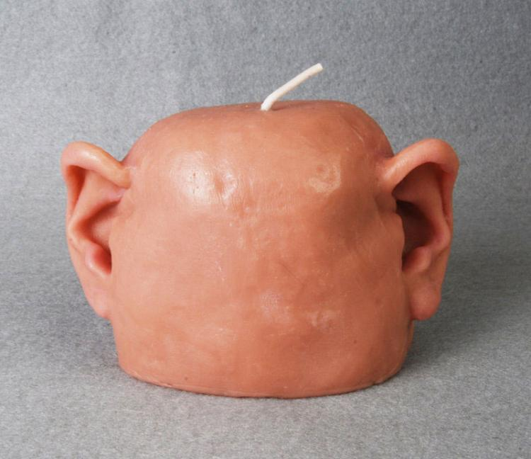 Human Head With Only Ears Candle