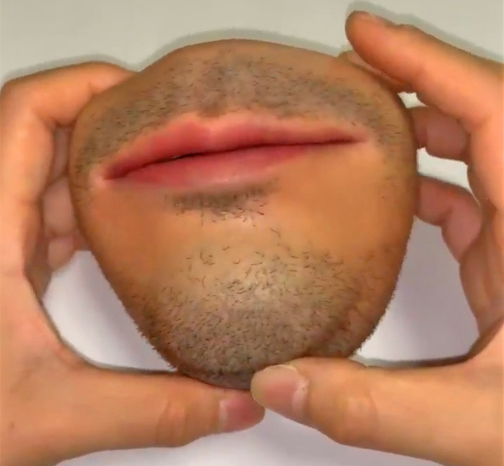 Human Face Coin Purse - Realistic mouth coin holder