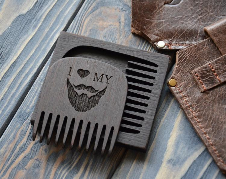 I Love My Beard - Wooden Beard Comb