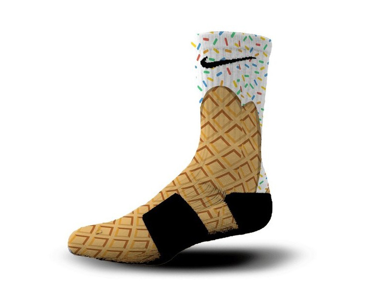 Nike Ice Cream Cone Socks