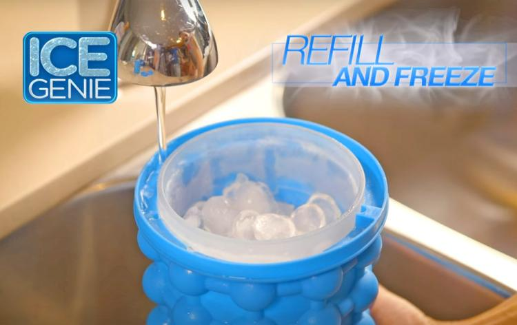 Ice Genie: Unique Ice Maker - Replaces 10 Ice Cube Trays - Makes 120 Ice Cubes