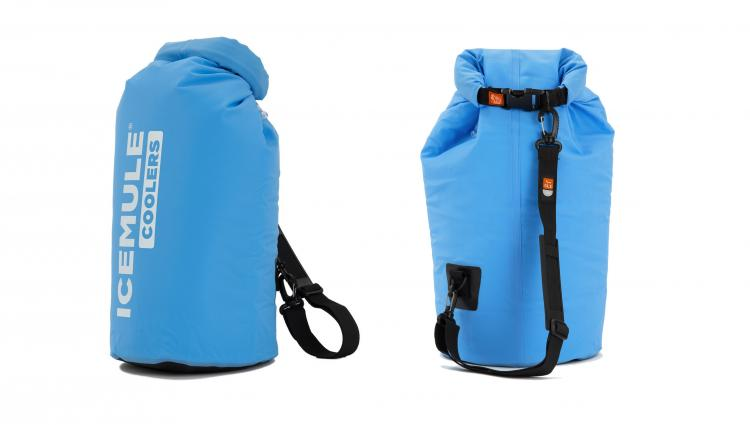 IceMule Portable Backpack Cooler - Travel Fabric Cooler - Waterproof, inflatable, floating cooler