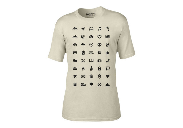 IconSpeak Travel Shirt Uses Icons To Communicate In Foreign Languages