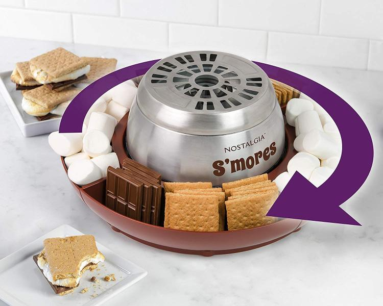 Flameless marshmallow toaster - indoor smore's maker electric toaster