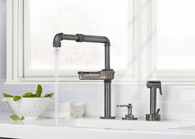 Beau Elan Vital 38   Industrial Pipe Modern Faucet
