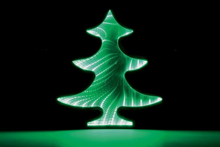 Infinite Mirror Christmas Tree - LED lit Christmas tree decoration