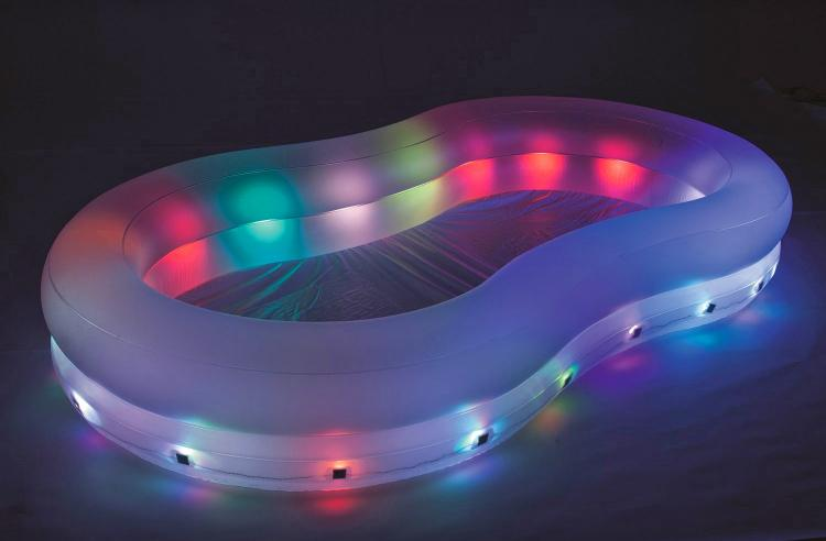 H2OGO! ColorWave Illuminated Color Changing Inflatable Pool