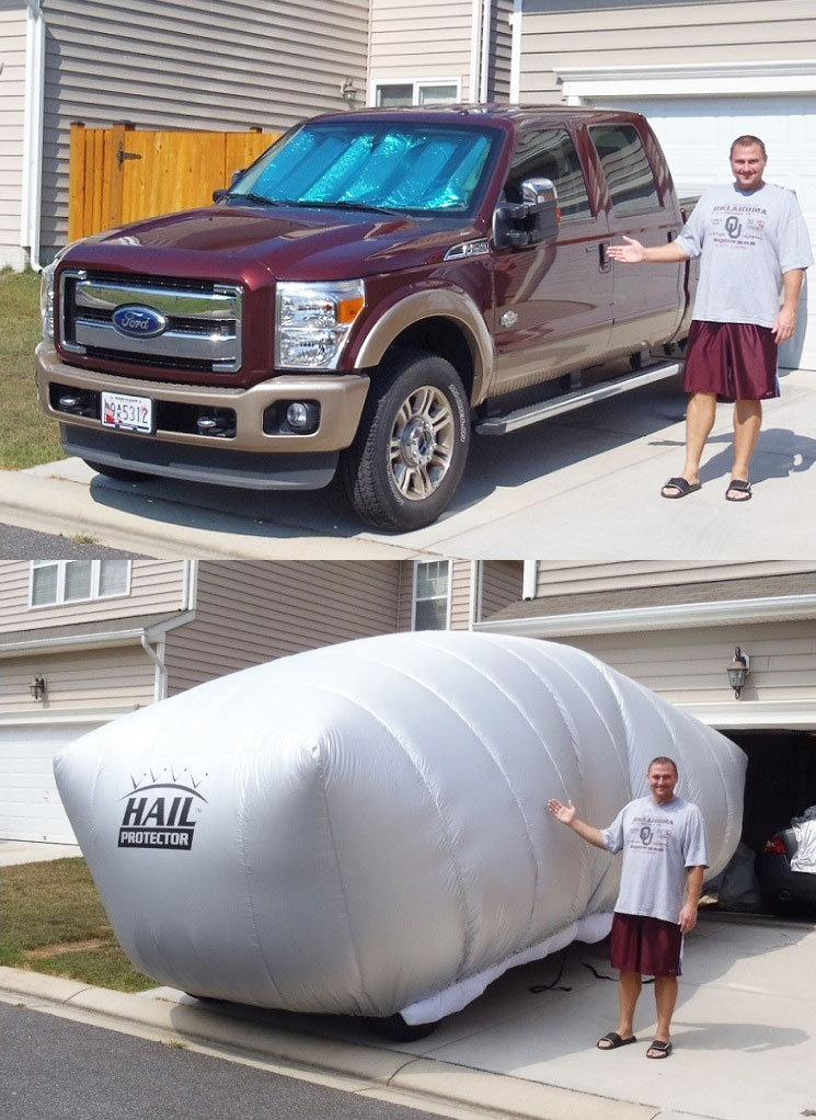 Hail Protection Car Cover >> Inflatable Hail Protector For Your Car Or Truck