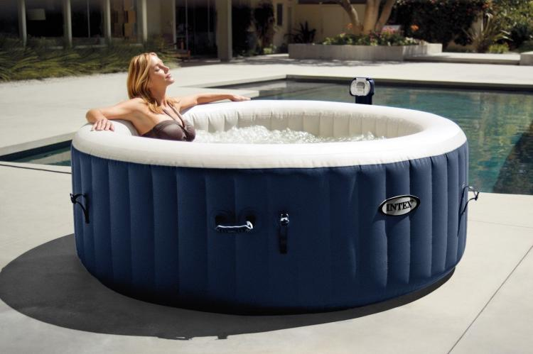 Intex Inflatable Hot Tub - Mobile Blow-up Hot Tub Ready in 20 Minutes