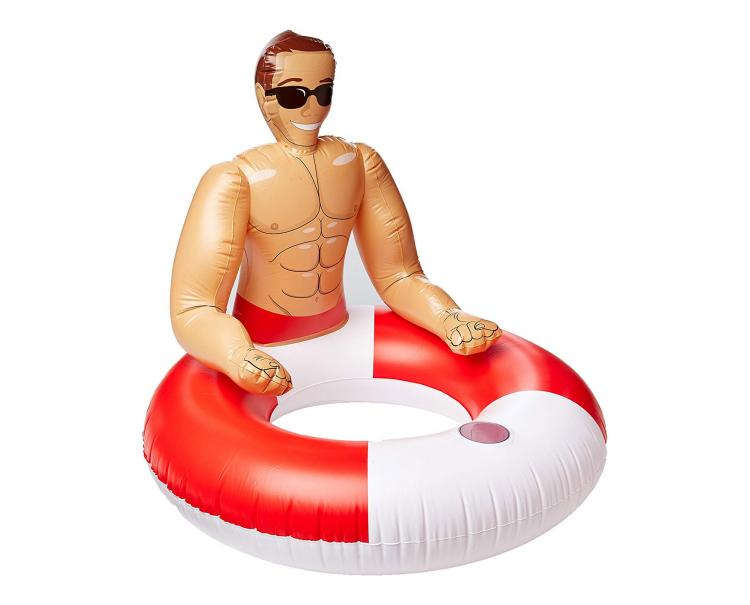 Inflatable Hunk Pool Float - Bachelorette party pool float