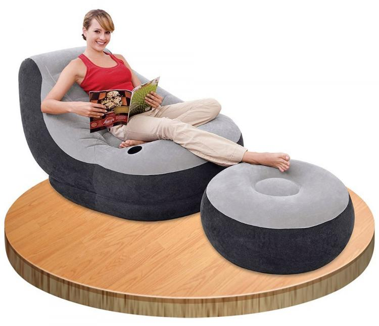 Inflatable Lounge Chair With Ottoman