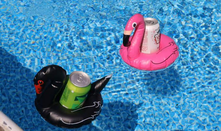 Inflatable Unicorn Pool Cup Holder - Inflatable animals floating pool koozies