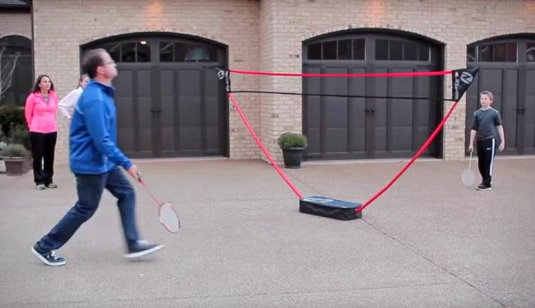 Portable Badminton Court Sets Up In Seconds