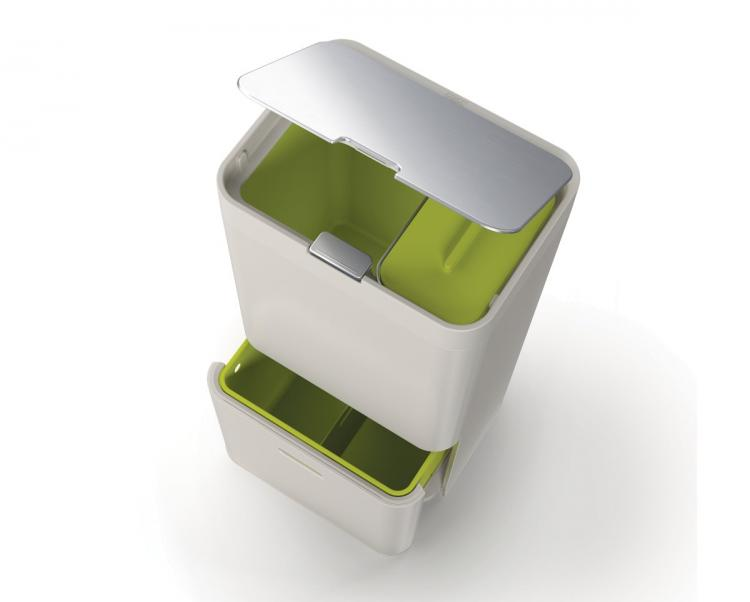 Joseph Joseph Intelligent Waste - Modern Design Combo Garbage, Recycling, Food Waste Bin