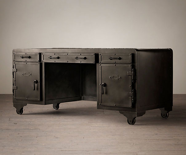 20th Century Iron Desk Vault