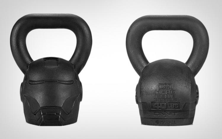 Iron Man Kettlebell - Marvel Tony Stark Iron Man Helmet Kettle Bell Fitness Tool